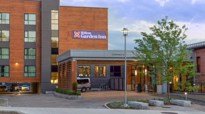 "Hilton Garden Inn Burlington-Downtown Exterior. Images powered by <a href=""http://web.iceportal.com"" target=""_blank"" rel=""noopener"">Ice Portal</a>."