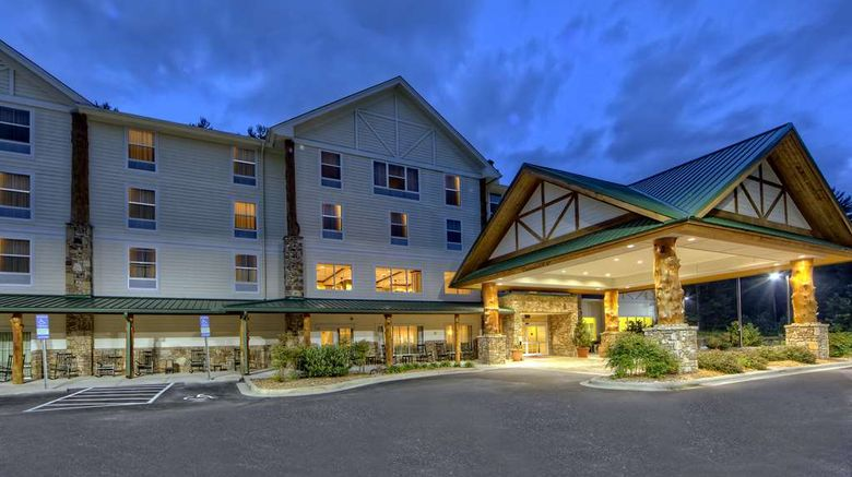"""Hampton Inn  and  Suites Cashiers/Sapphire Exterior. Images powered by <a href=""""http://web.iceportal.com"""" target=""""_blank"""" rel=""""noopener"""">Ice Portal</a>."""
