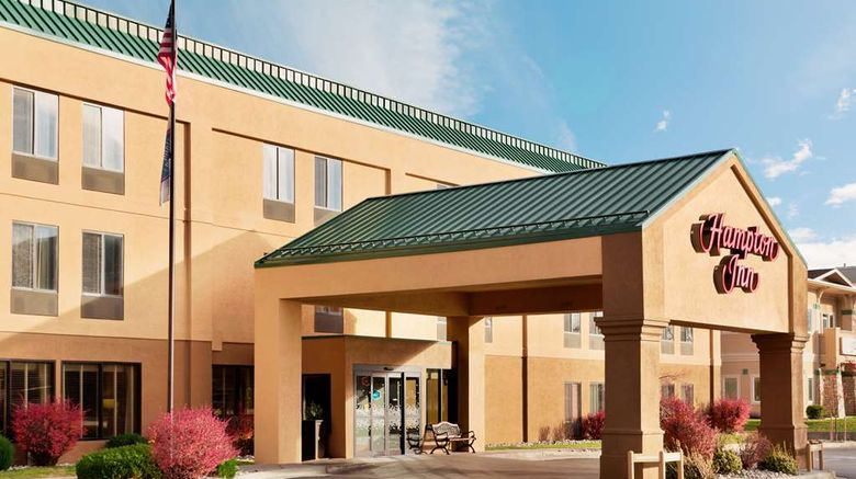 """Hampton Inn Longmont Exterior. Images powered by <a href=""""http://web.iceportal.com"""" target=""""_blank"""" rel=""""noopener"""">Ice Portal</a>."""