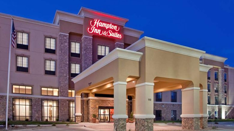 """Hampton Inn  and  Suites Dickinson Exterior. Images powered by <a href=""""http://web.iceportal.com"""" target=""""_blank"""" rel=""""noopener"""">Ice Portal</a>."""