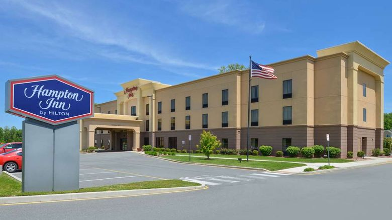 """Hampton Inn Milford Exterior. Images powered by <a href=""""http://web.iceportal.com"""" target=""""_blank"""" rel=""""noopener"""">Ice Portal</a>."""