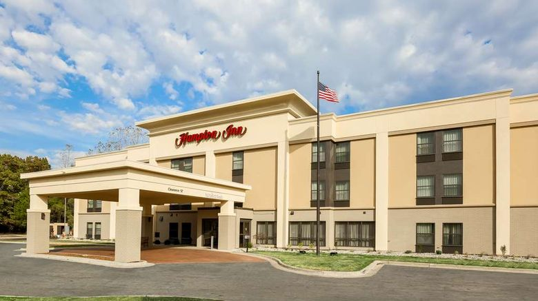 """Hampton Inn Jackson Exterior. Images powered by <a href=""""http://web.iceportal.com"""" target=""""_blank"""" rel=""""noopener"""">Ice Portal</a>."""