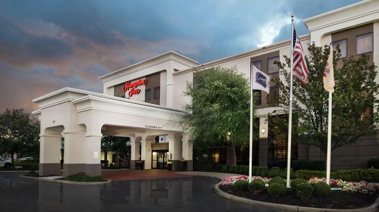 """Hampton Inn Linden Exterior. Images powered by <a href=""""http://web.iceportal.com"""" target=""""_blank"""" rel=""""noopener"""">Ice Portal</a>."""