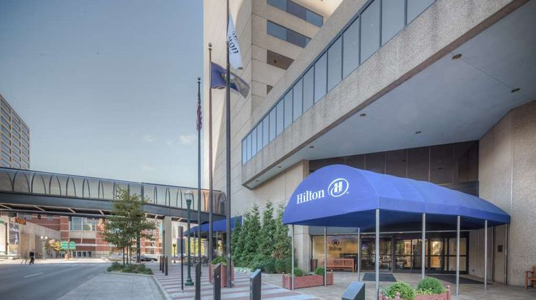 """Hilton Lexington/Downtown Exterior. Images powered by <a href=""""http://web.iceportal.com"""" target=""""_blank"""" rel=""""noopener"""">Ice Portal</a>."""