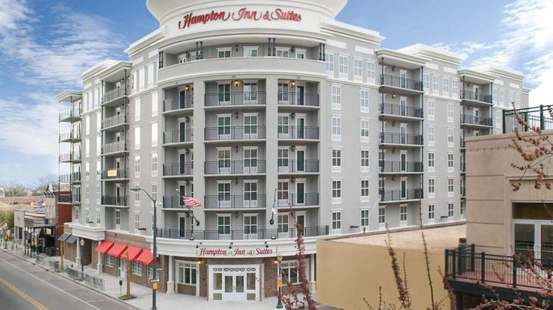 """Hampton Inn  and  Suites Dtwn Historic Exterior. Images powered by <a href=""""http://web.iceportal.com"""" target=""""_blank"""" rel=""""noopener"""">Ice Portal</a>."""