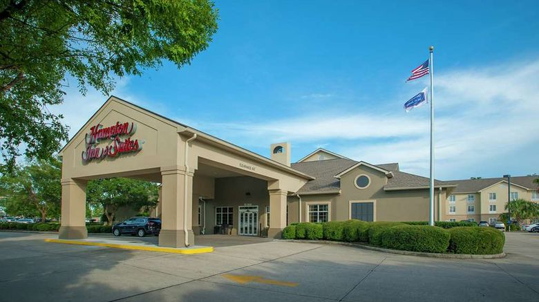 """Hampton Inn  and  Suites New Orleans-Elmwood Exterior. Images powered by <a href=""""http://web.iceportal.com"""" target=""""_blank"""" rel=""""noopener"""">Ice Portal</a>."""