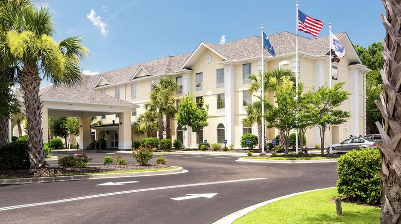 """Hampton Inn Murrells Inlet Myrtle Beach Exterior. Images powered by <a href=""""http://web.iceportal.com"""" target=""""_blank"""" rel=""""noopener"""">Ice Portal</a>."""