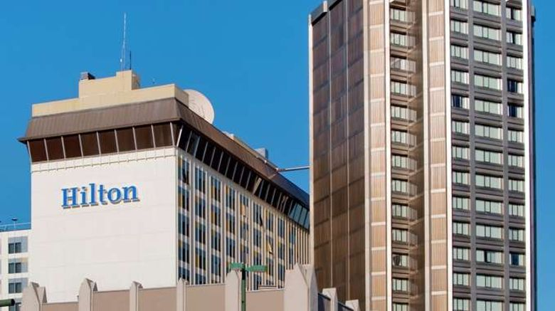 """Hilton Anchorage Exterior. Images powered by <a href=""""http://web.iceportal.com"""" target=""""_blank"""" rel=""""noopener"""">Ice Portal</a>."""