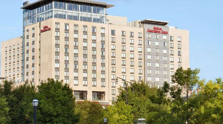 """Hilton Garden Inn Atlanta Downtown Exterior. Images powered by <a href=""""http://web.iceportal.com"""" target=""""_blank"""" rel=""""noopener"""">Ice Portal</a>."""