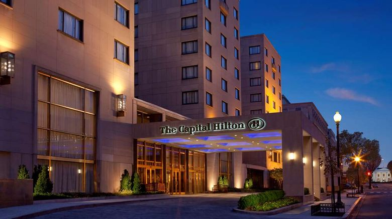 """Capital Hilton Exterior. Images powered by <a href=""""http://web.iceportal.com"""" target=""""_blank"""" rel=""""noopener"""">Ice Portal</a>."""