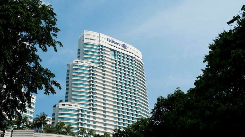"""Hilton Kuala Lumpur Exterior. Images powered by <a href=""""http://web.iceportal.com"""" target=""""_blank"""" rel=""""noopener"""">Ice Portal</a>."""