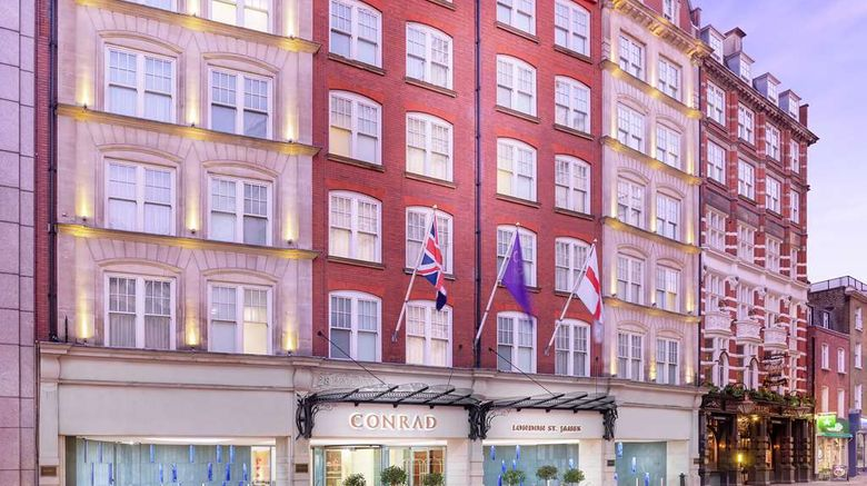 """Conrad London St James Exterior. Images powered by <a href=""""http://web.iceportal.com"""" target=""""_blank"""" rel=""""noopener"""">Ice Portal</a>."""