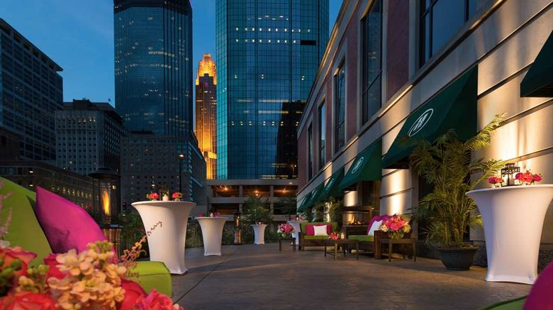 """Hilton Minneapolis Exterior. Images powered by <a href=""""http://web.iceportal.com"""" target=""""_blank"""" rel=""""noopener"""">Ice Portal</a>."""