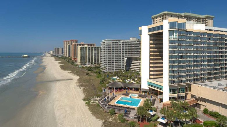 """Hilton Myrtle Beach Resort Exterior. Images powered by <a href=""""http://web.iceportal.com"""" target=""""_blank"""" rel=""""noopener"""">Ice Portal</a>."""