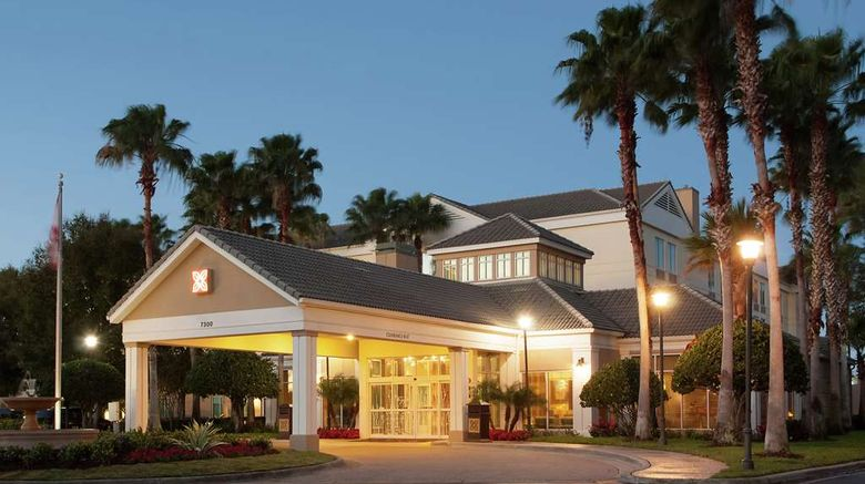 """Hilton Garden Inn Orlando Airport Exterior. Images powered by <a href=""""http://web.iceportal.com"""" target=""""_blank"""" rel=""""noopener"""">Ice Portal</a>."""