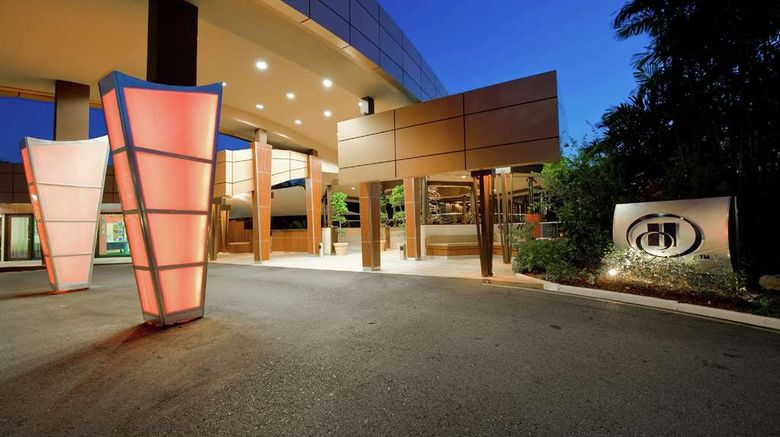 """Hilton Trinidad  and  Conference Centre Exterior. Images powered by <a href=""""http://web.iceportal.com"""" target=""""_blank"""" rel=""""noopener"""">Ice Portal</a>."""