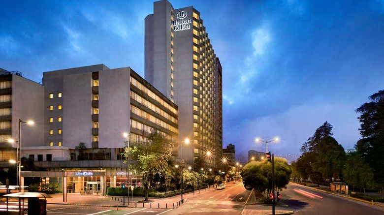 """Hilton Colon Quito Exterior. Images powered by <a href=""""http://web.iceportal.com"""" target=""""_blank"""" rel=""""noopener"""">Ice Portal</a>."""