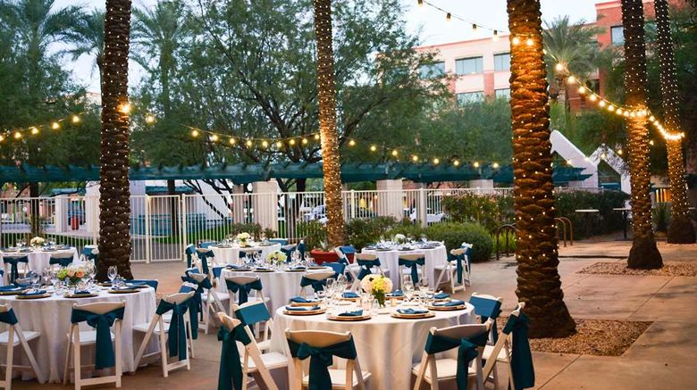 """Hilton Garden Inn Scottsdale Old Town Exterior. Images powered by <a href=""""http://web.iceportal.com"""" target=""""_blank"""" rel=""""noopener"""">Ice Portal</a>."""