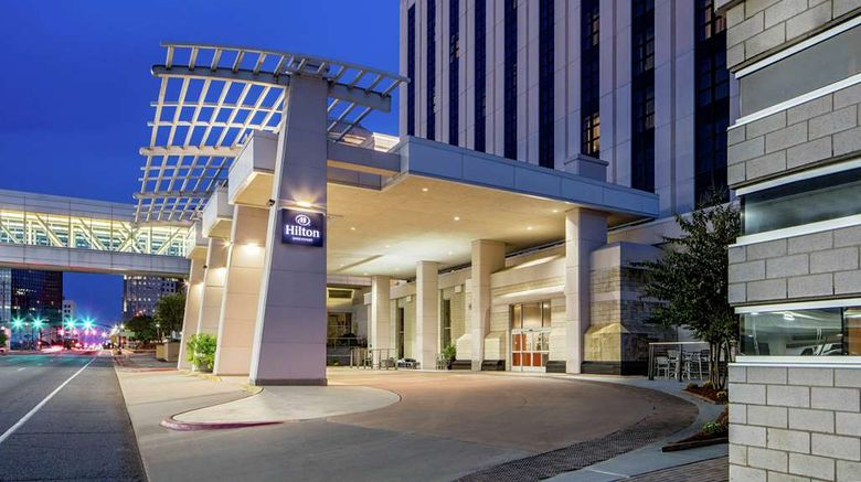 """Hilton Shreveport Exterior. Images powered by <a href=""""http://web.iceportal.com"""" target=""""_blank"""" rel=""""noopener"""">Ice Portal</a>."""