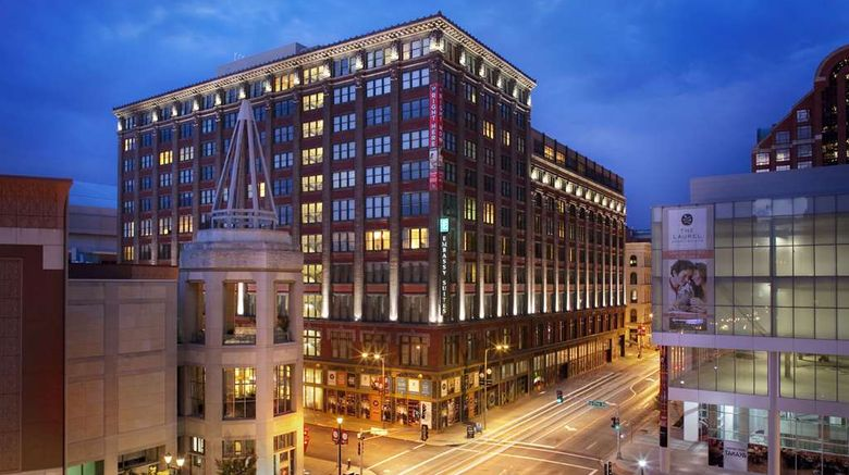 """Embassy Suites St Louis Downtown Exterior. Images powered by <a href=""""http://web.iceportal.com"""" target=""""_blank"""" rel=""""noopener"""">Ice Portal</a>."""
