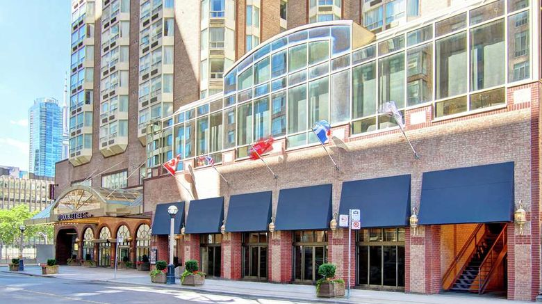 """DoubleTree by Hilton Toronto Downtown Exterior. Images powered by <a href=""""http://web.iceportal.com"""" target=""""_blank"""" rel=""""noopener"""">Ice Portal</a>."""