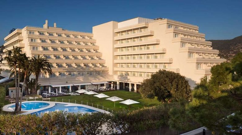 """Melia Sitges Exterior. Images powered by <a href=""""http://web.iceportal.com"""" target=""""_blank"""" rel=""""noopener"""">Ice Portal</a>."""