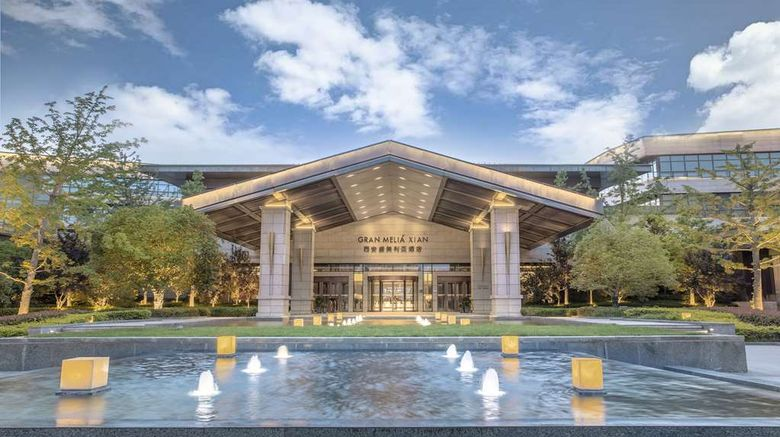 """Gran Melia Xian Exterior. Images powered by <a href=""""http://web.iceportal.com"""" target=""""_blank"""" rel=""""noopener"""">Ice Portal</a>."""