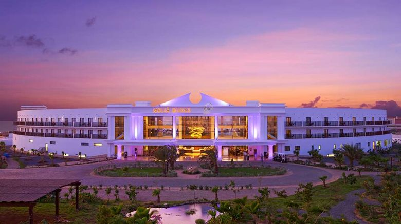 """Melia Dunas Beach Resort  and  Spa Exterior. Images powered by <a href=""""http://web.iceportal.com"""" target=""""_blank"""" rel=""""noopener"""">Ice Portal</a>."""