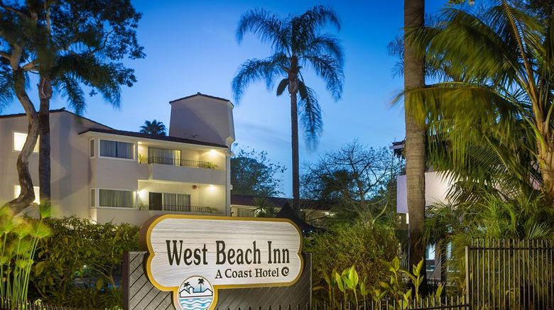 """West Beach Inn, a Coast Hotel Exterior. Images powered by <a href=""""http://web.iceportal.com"""" target=""""_blank"""" rel=""""noopener"""">Ice Portal</a>."""