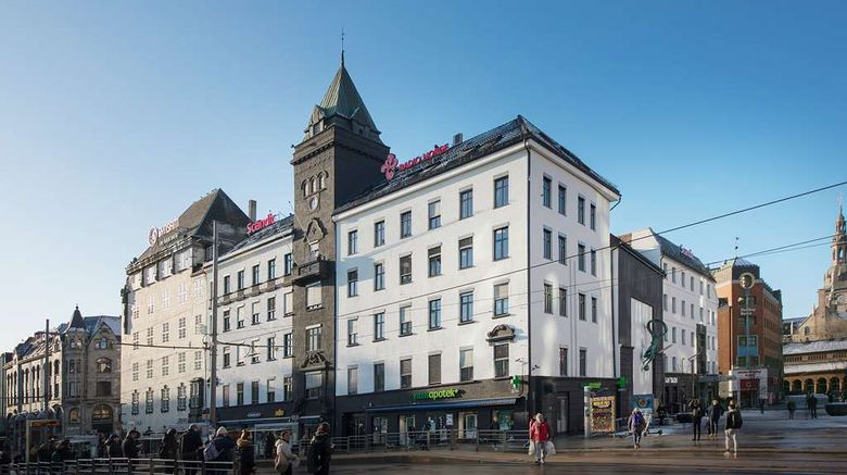 """Scandic Oslo City Hotel Exterior. Images powered by <a href=""""http://web.iceportal.com"""" target=""""_blank"""" rel=""""noopener"""">Ice Portal</a>."""