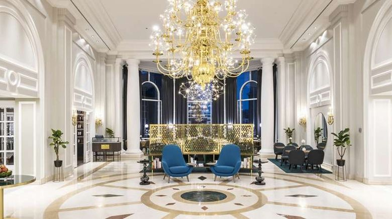 """<b>Hilton Brussels Grand Place Lobby</b>. Images powered by <a href=""""https://iceportal.shijigroup.com/"""" title=""""IcePortal"""" target=""""_blank"""">IcePortal</a>."""
