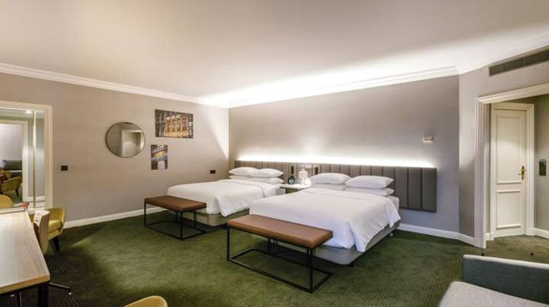 """<b>Hilton Brussels Grand Place Room</b>. Images powered by <a href=""""https://iceportal.shijigroup.com/"""" title=""""IcePortal"""" target=""""_blank"""">IcePortal</a>."""