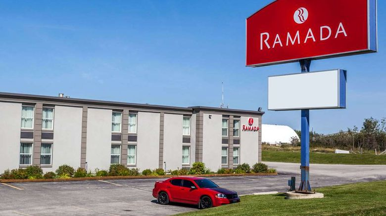 """Ramada Timmins Exterior. Images powered by <a href=""""http://web.iceportal.com"""" target=""""_blank"""" rel=""""noopener"""">Ice Portal</a>."""