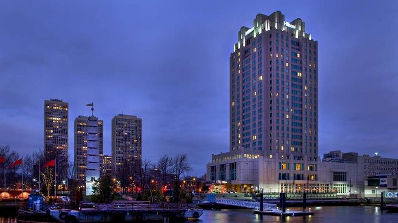 """Hilton Philadelphia at Penns Landing Exterior. Images powered by <a href=""""http://web.iceportal.com"""" target=""""_blank"""" rel=""""noopener"""">Ice Portal</a>."""