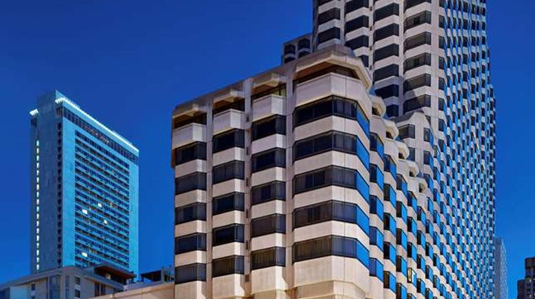 """Parc 55 San Francisco, a Hilton Hotel Exterior. Images powered by <a href=""""http://web.iceportal.com"""" target=""""_blank"""" rel=""""noopener"""">Ice Portal</a>."""