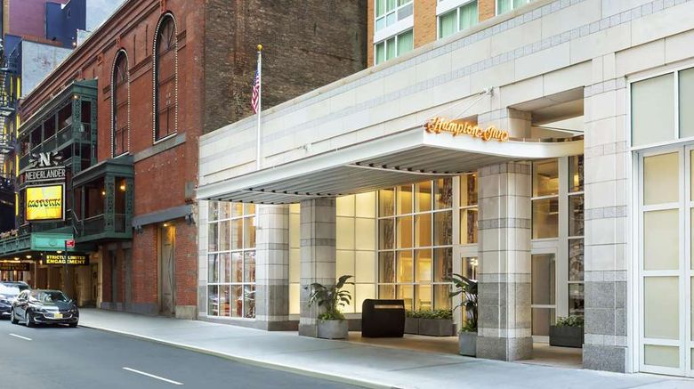 """Hampton Inn Manhattan/Times Square Centr Exterior. Images powered by <a href=""""http://web.iceportal.com"""" target=""""_blank"""" rel=""""noopener"""">Ice Portal</a>."""