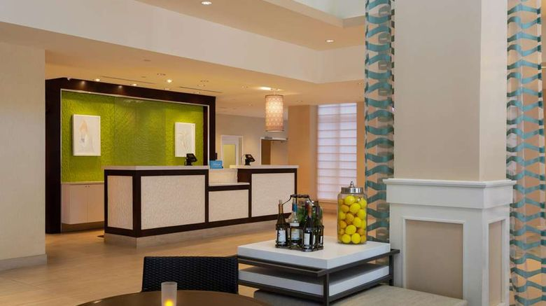 """Hilton Garden Inn Oceanfront Lobby. Images powered by <a href=""""http://web.iceportal.com"""" target=""""_blank"""" rel=""""noopener"""">Ice Portal</a>."""