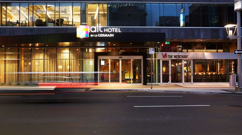 """Alt Hotel Winnipeg Exterior. Images powered by <a href=""""http://web.iceportal.com"""" target=""""_blank"""" rel=""""noopener"""">Ice Portal</a>."""