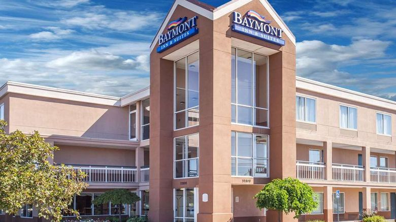 """Baymont Inn  and  Suites Madison Heights Exterior. Images powered by <a href=""""http://web.iceportal.com"""" target=""""_blank"""" rel=""""noopener"""">Ice Portal</a>."""