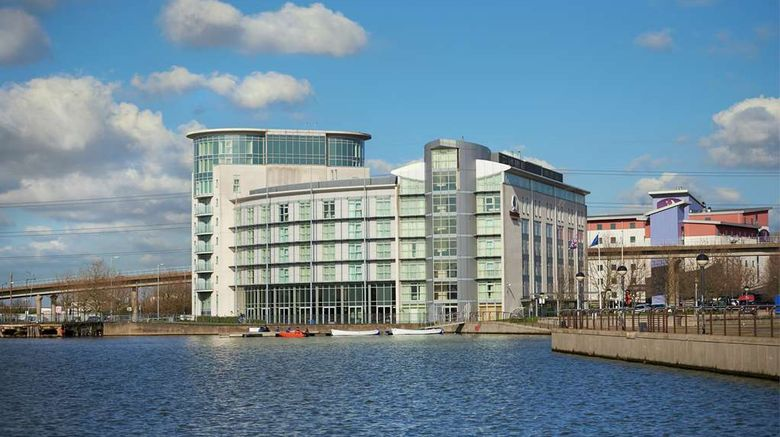 """<b>DoubleTree by Hilton London ExCeL Exterior</b>. Images powered by <a href=""""https://iceportal.shijigroup.com/"""" title=""""IcePortal"""" target=""""_blank"""">IcePortal</a>."""