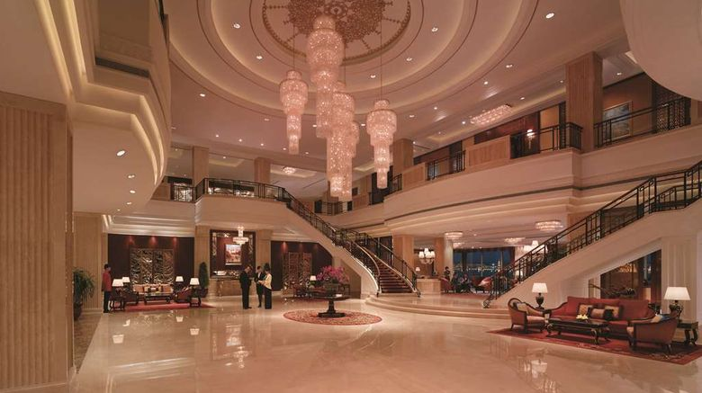 """Shangri-La Hotel, Manzhouli Lobby. Images powered by <a href=""""http://web.iceportal.com"""" target=""""_blank"""" rel=""""noopener"""">Ice Portal</a>."""