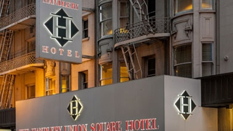 """Handlery Union Square Hotel Exterior. Images powered by <a href=""""http://web.iceportal.com"""" target=""""_blank"""" rel=""""noopener"""">Ice Portal</a>."""