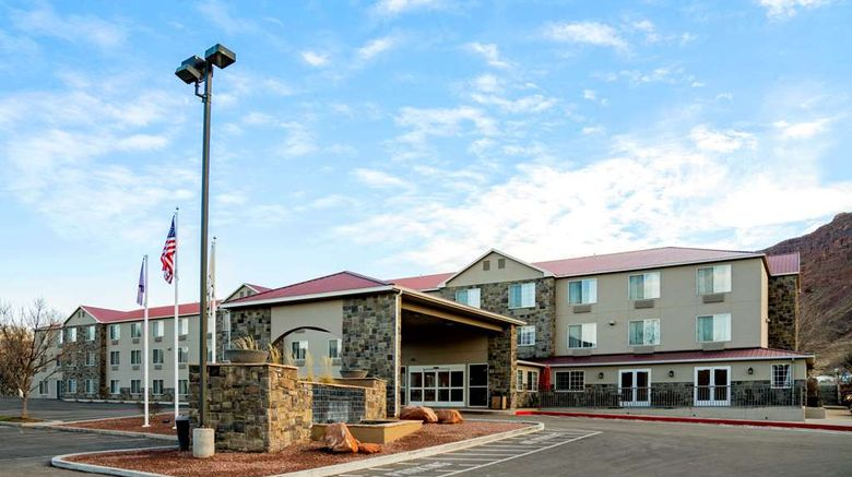"""La Quinta Inn  and  Suites Moab Exterior. Images powered by <a href=""""http://web.iceportal.com"""" target=""""_blank"""" rel=""""noopener"""">Ice Portal</a>."""