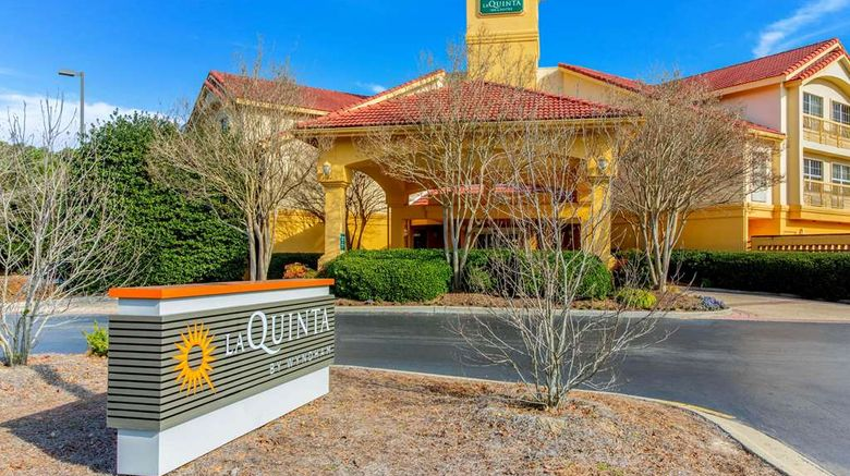"""La Quinta Inn  and  Stes Raleigh Durham Arpt Exterior. Images powered by <a href=""""http://web.iceportal.com"""" target=""""_blank"""" rel=""""noopener"""">Ice Portal</a>."""