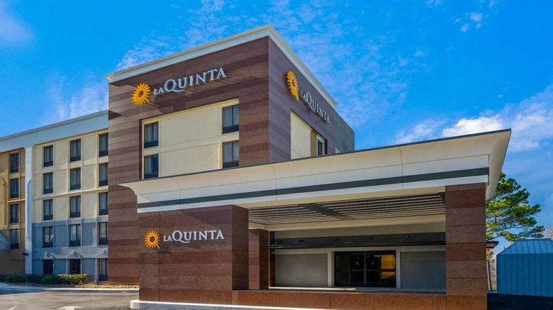 """La Quinta Inn Maingate Ft Jackson Exterior. Images powered by <a href=""""http://web.iceportal.com"""" target=""""_blank"""" rel=""""noopener"""">Ice Portal</a>."""