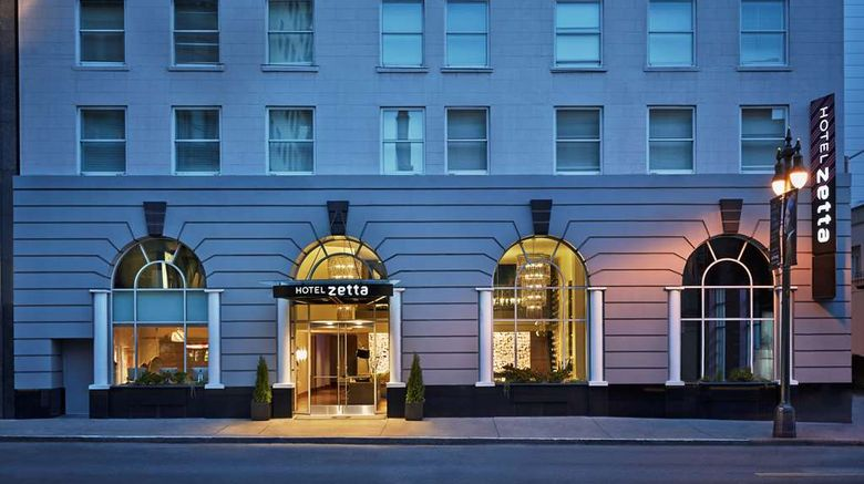 """Hotel Zetta, a Viceroy Urban Retreat Exterior. Images powered by <a href=""""http://web.iceportal.com"""" target=""""_blank"""" rel=""""noopener"""">Ice Portal</a>."""