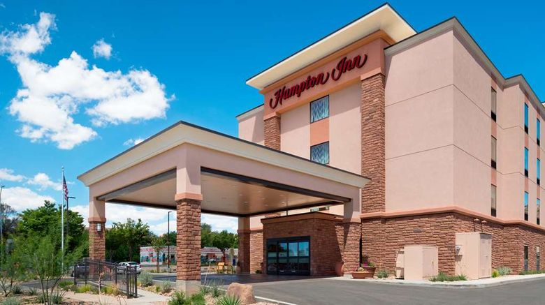 """Hampton Inn Kanab Exterior. Images powered by <a href=""""http://web.iceportal.com"""" target=""""_blank"""" rel=""""noopener"""">Ice Portal</a>."""