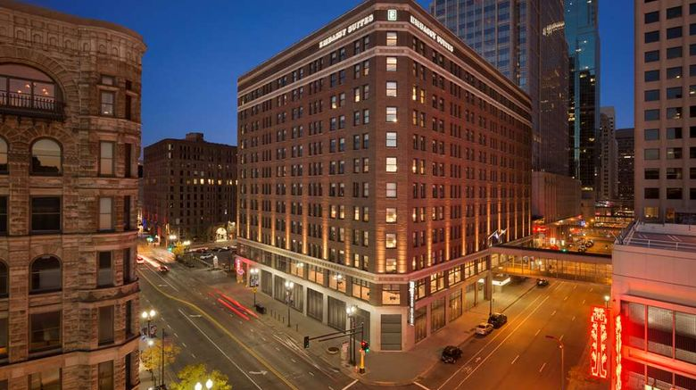 """Embassy Suites Minneapolis Downtown Exterior. Images powered by <a href=""""http://web.iceportal.com"""" target=""""_blank"""" rel=""""noopener"""">Ice Portal</a>."""