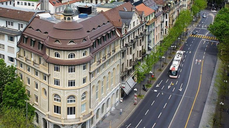 """TOP Hotel Anker Lucerne Exterior. Images powered by <a href=""""http://web.iceportal.com"""" target=""""_blank"""" rel=""""noopener"""">Ice Portal</a>."""