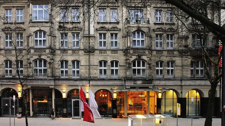 """InterCityHotel Duesseldorf Exterior. Images powered by <a href=""""http://web.iceportal.com"""" target=""""_blank"""" rel=""""noopener"""">Ice Portal</a>."""